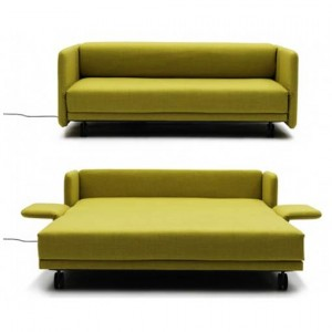 Yellow Color space Saving Sofa Cum Bed