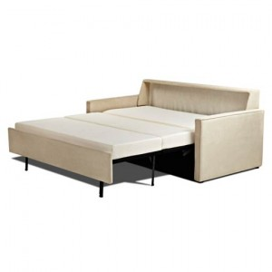 Cream Color Modern Fold Out Sofa Bed