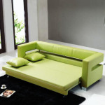 Green Color Sectinal Sofa Bed