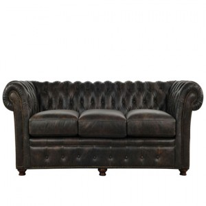 Black Brownish Leather Sofa