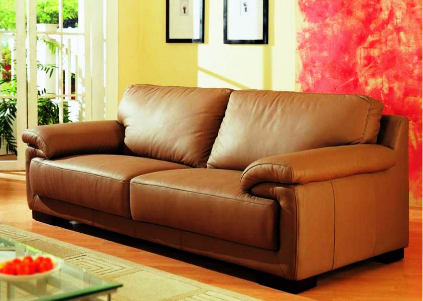 Buy Tan Leather Sofas Online In Mumbai At Onlinesofadesign