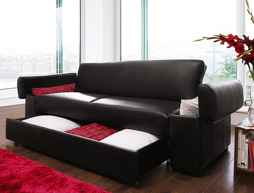 Buy Faux Leather Sofa Bed with Storage in Mumbai from ...