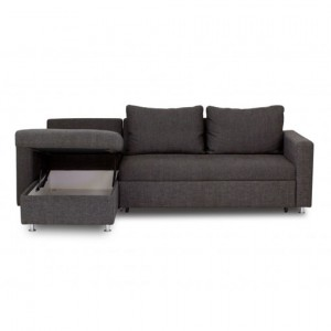 Gray Colored Sofa Bed with Left Hand Chaise