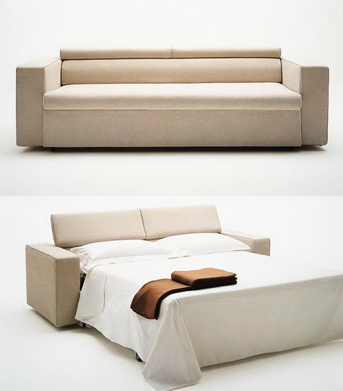 buy cream color modern sofa cum bed at onlinesofadesign. Black Bedroom Furniture Sets. Home Design Ideas