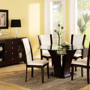 dining-room-modern-dining-table-set-5pc-round-glass-top-espresso-with-white-big-window-glass-top-dining-room-sets