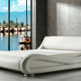 Modern Designer Faux Leather Italian Double Bed